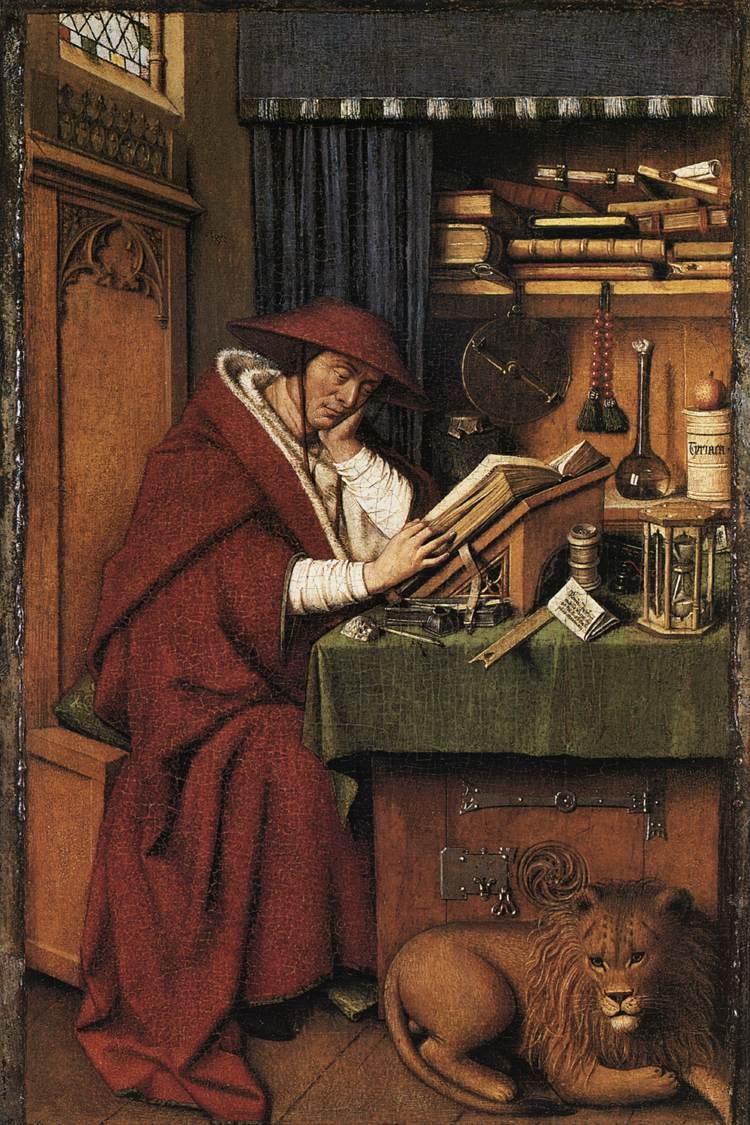 Saint Jerome in His Study, Jan Van Eyck, 1440