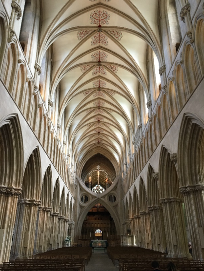 The interior of the Wells Cathedral in Somerset, England