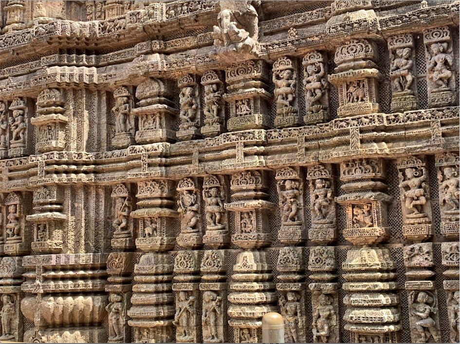 Sculptures at the Konark Sun Temple