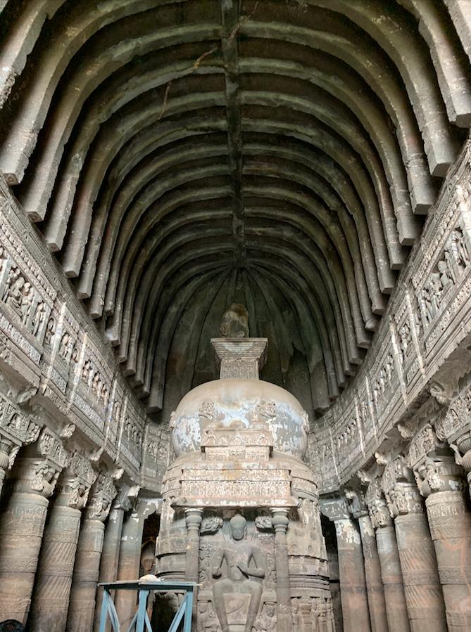 Buddhist prayer hall in the Ajanta Caves